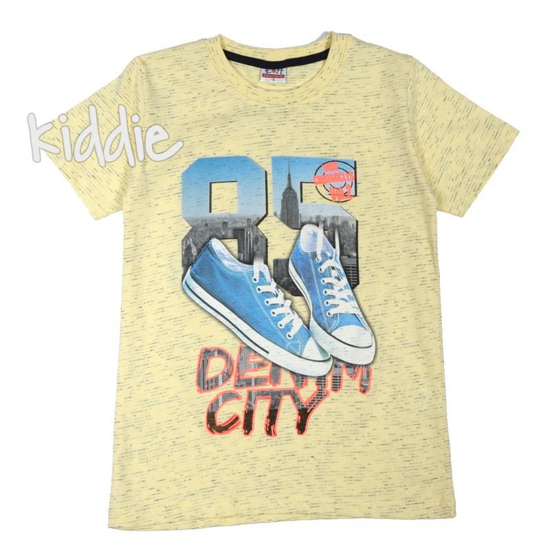Детска тениска EH за момче Denim City