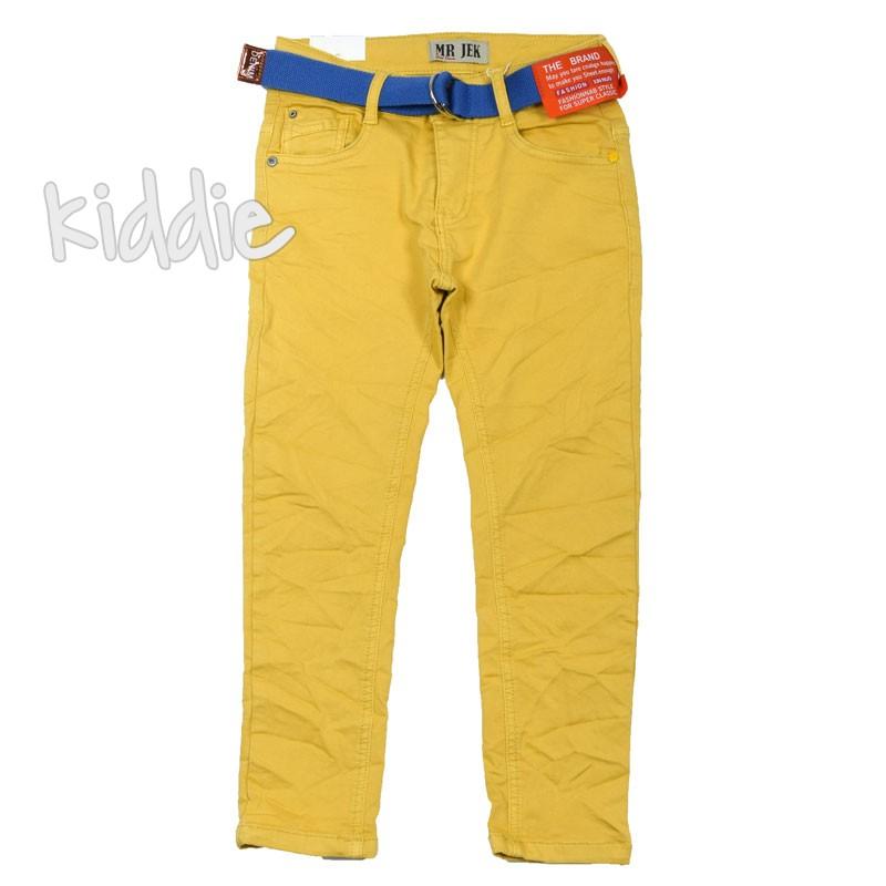 Намачкан детски панталон Mr. Jek за момче с колан