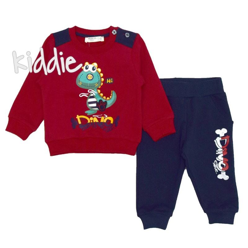 Бебешки комплект Dino Breeze за момче с щампа