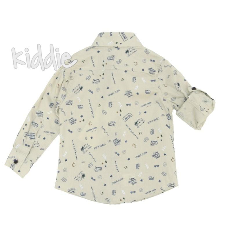 Детска риза за момче Breeze с надписи
