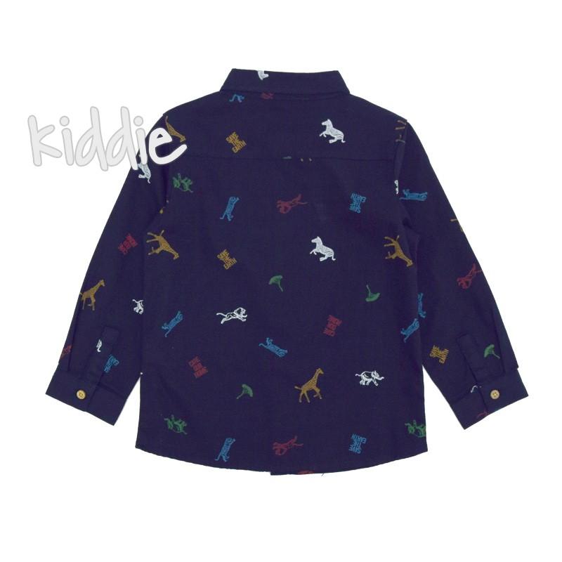 Детска риза за момче Джунгла с дълъг ръкав Cikoby
