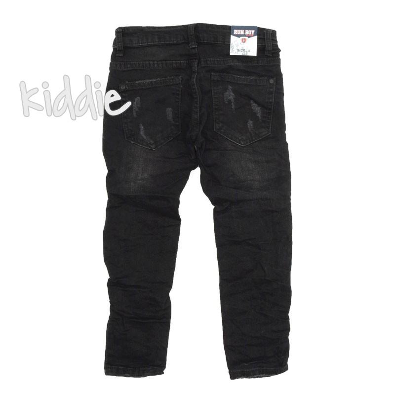 Детски черни дънки за момче с кръпки Run Boy