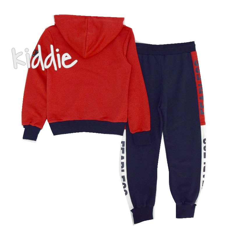 Детски комплект Cikoby с червен блузон за момче