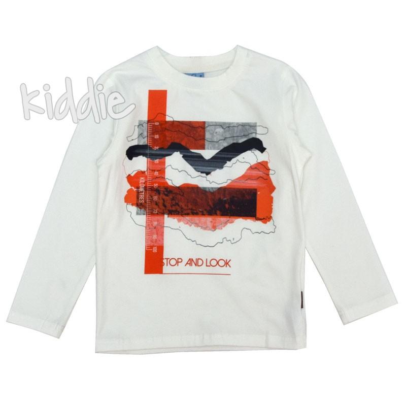 Детска блуза с червен сантиметър Ativo за момче