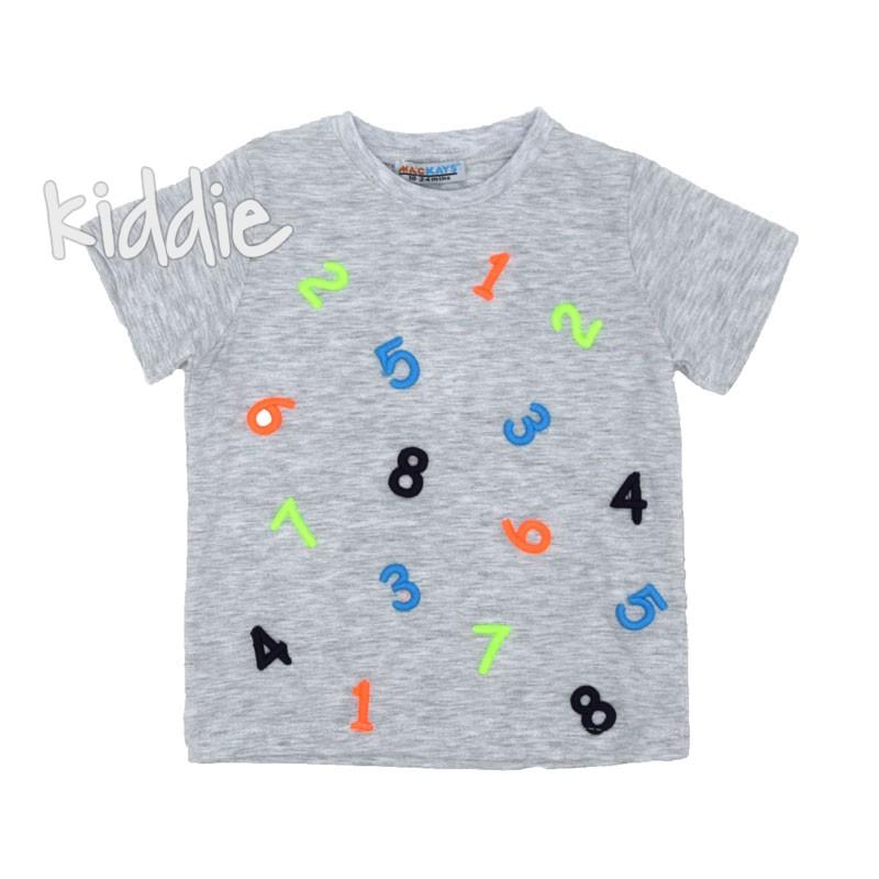 Детска тениска Mackays с бродирани цифри за момче