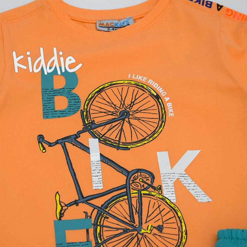 Детски комплект Mackays тениска с колело за момче