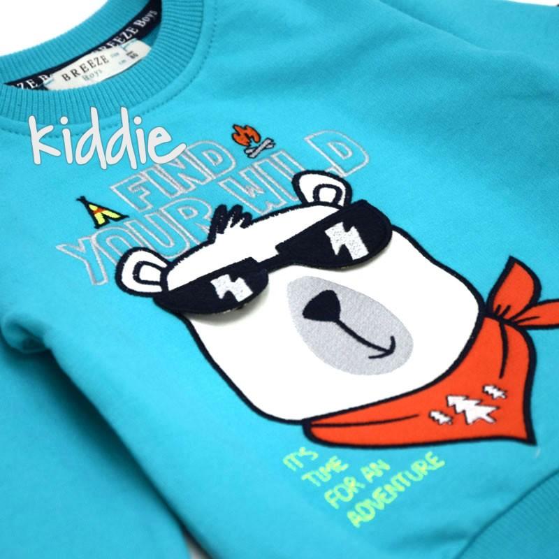 Детски комплект Мече с очила Breeze за момче