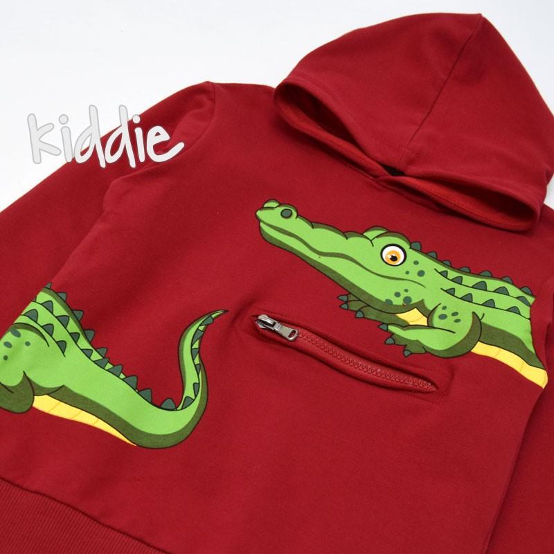 Детска блуза с качулка Breeze за момче Крокодили
