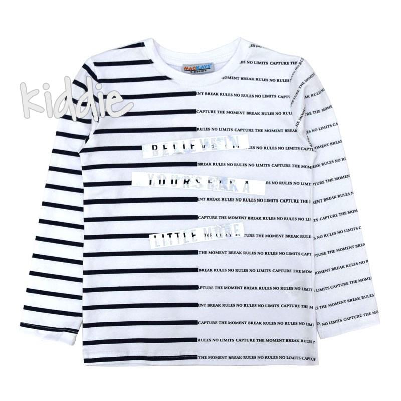 Детска блуза Mackays с ленти за момче