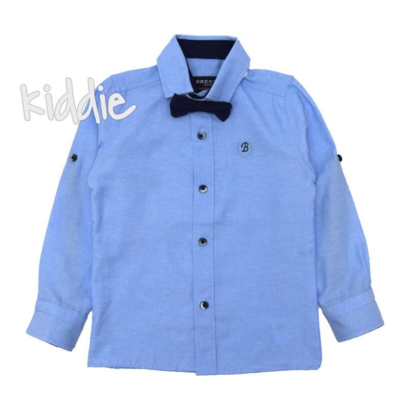 Детска риза за момче Breeze с папионка