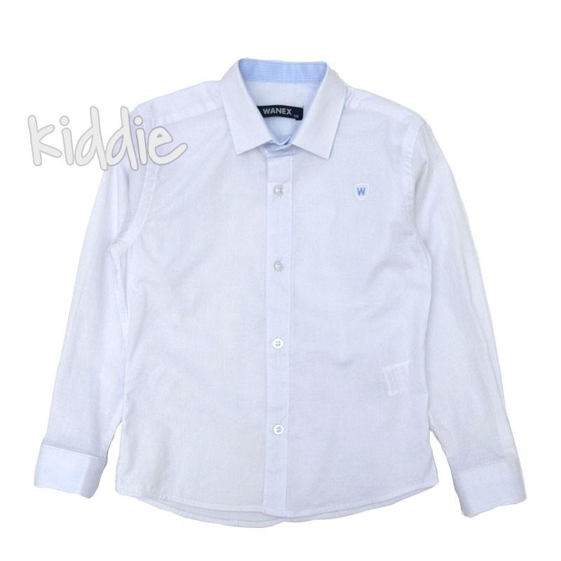 Детска риза Wanex с дълъг ръкав и лого за момче
