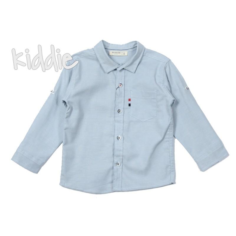 Детска риза за момче с джоб Breeze