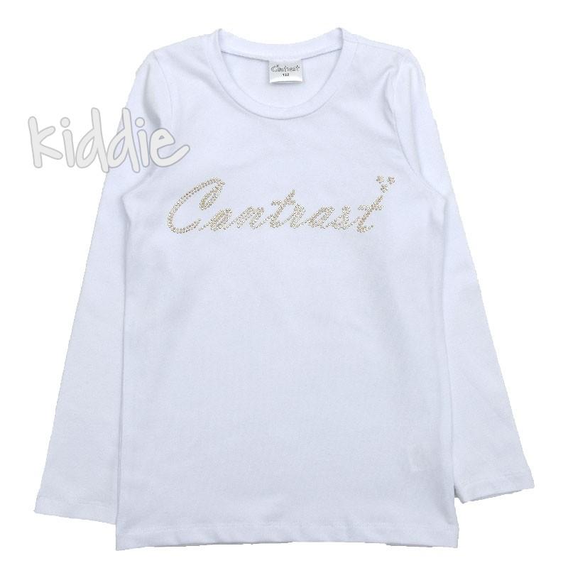 Детска блуза за момиче Contrast с апликация