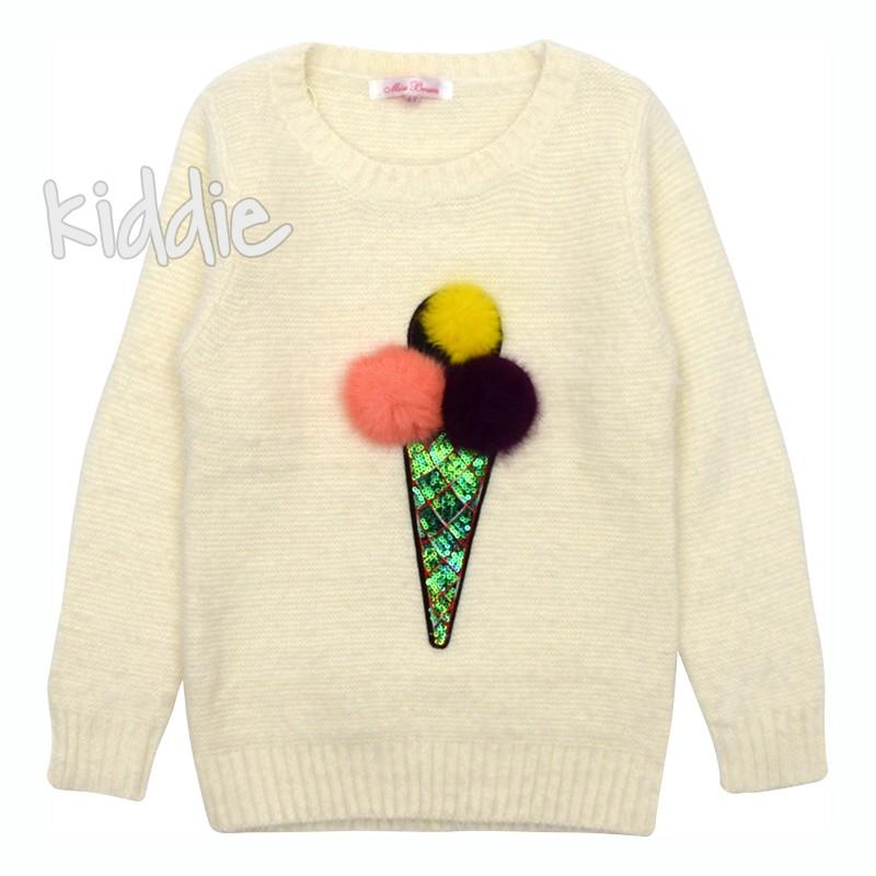 Детски пуловер за момиче Сладоледи Miss Brum