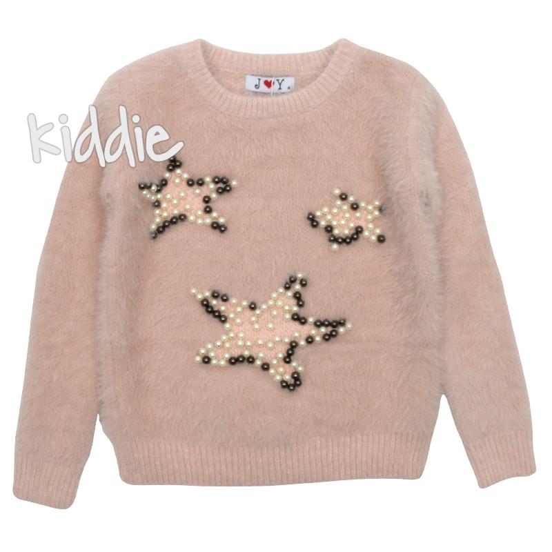 Пухкав детски пуловер  за момиче  Joy