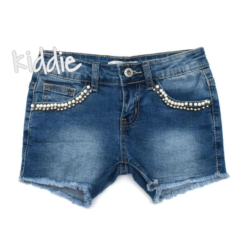 Къси детски дънкови панталони за момиче Happy Star