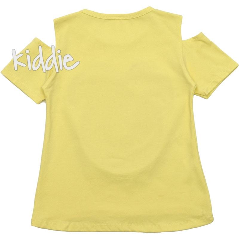 Детска блуза за момиче с голи рамена Angelina