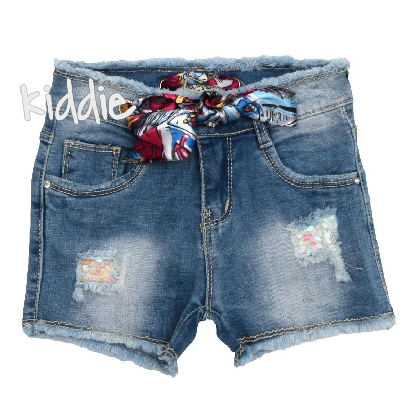 Детски дънкови къси панталони Lollitop за момиче