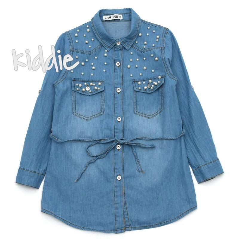 841c4360ccf Детска дънкова риза туника за момиче Jolie Angel | Kiddie