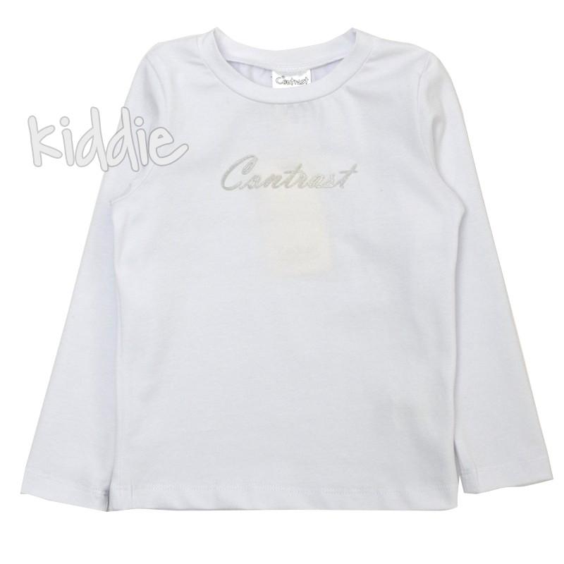 Детска блуза за момиче с надпис Contrast
