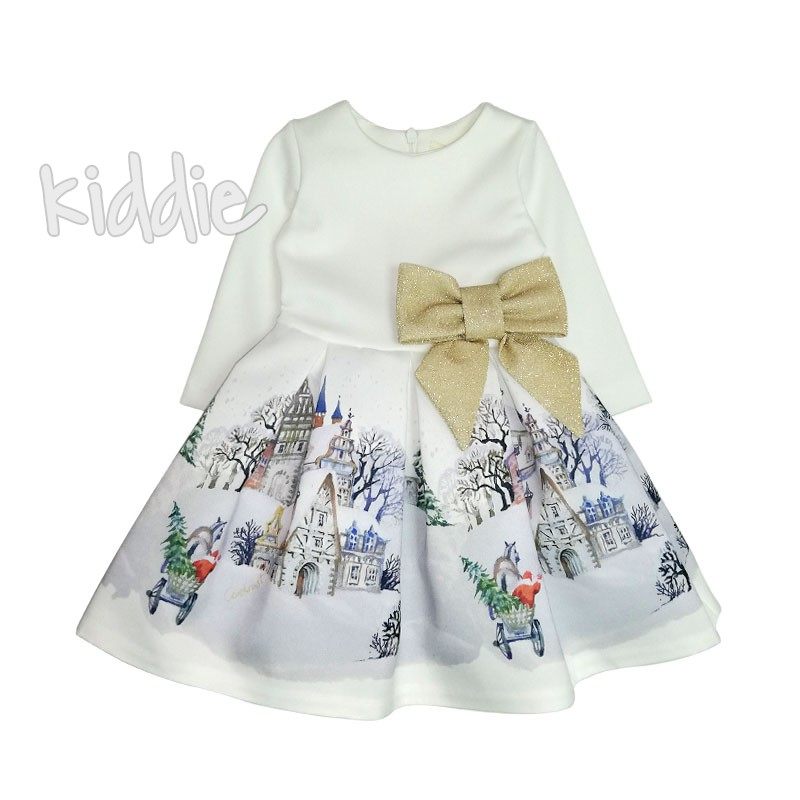 Бебешка рокля Зимна приказка Contrast