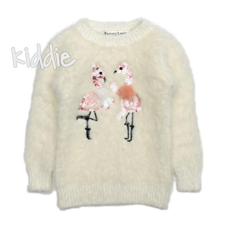 Детски пуловер Фламинго Fanny Look за момиче