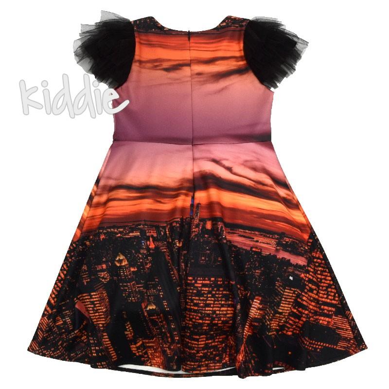 Детска рокля Viki с тюл на рамената