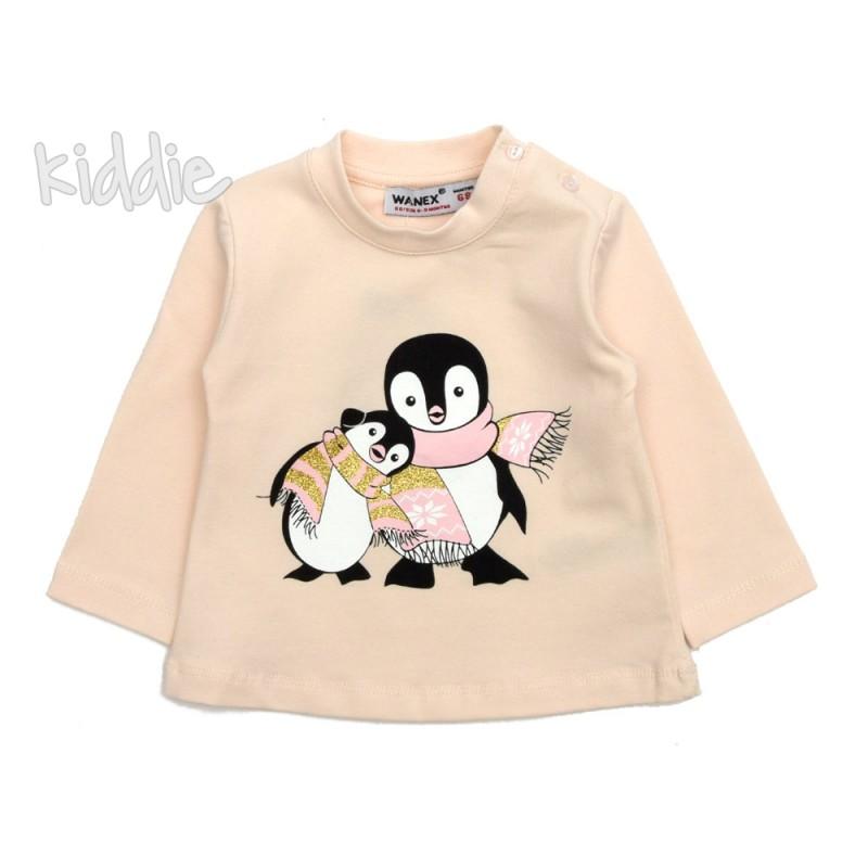 Бебешка блуза Пингвини  Wanex за момиче