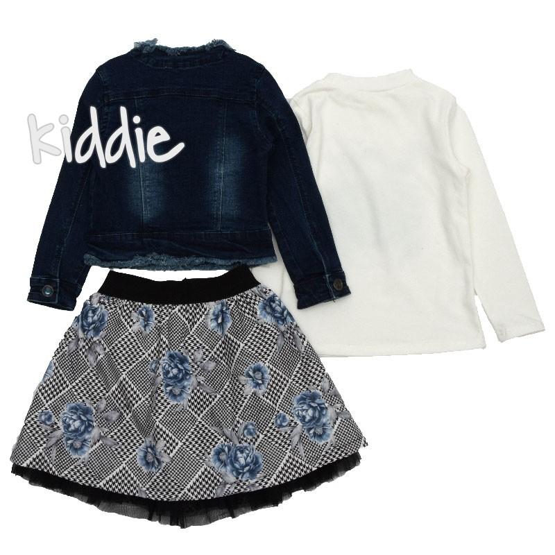 Детски комплект с дънково яке Lollitop за момиче