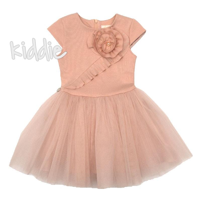 Детска рокля Contrast с тюл