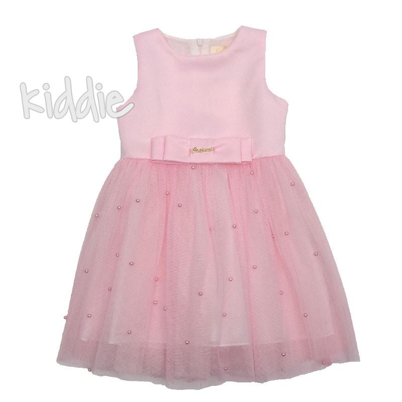 Детска рокля Contrast с тюл и перли