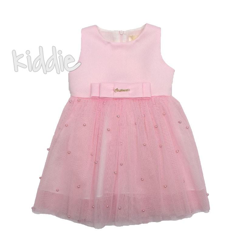 Бебешка рокля Contrast с перлички
