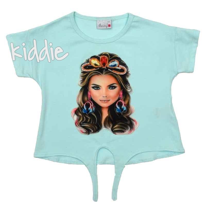 Детска тениска Barmy за момиче с апликация