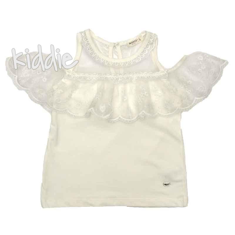 Детска блуза за момиче с отворено рамо Breeze