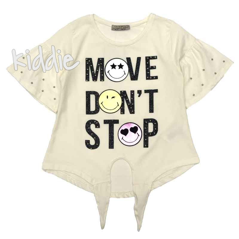 Детска тениска Move Dont Stop, LittleStar за момиче