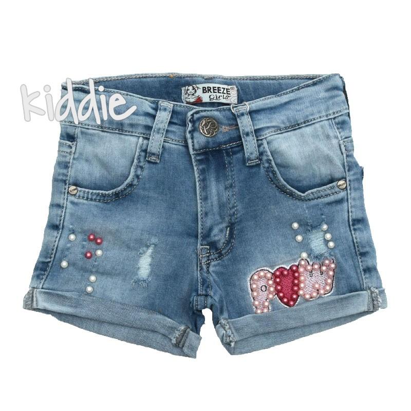 Детски къси дънкови панталони Breeze за момиче