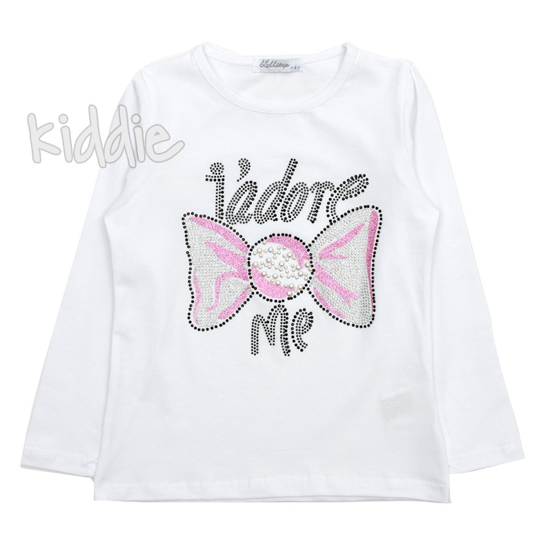 Детска блуза Lollitop Jadore me за момиче
