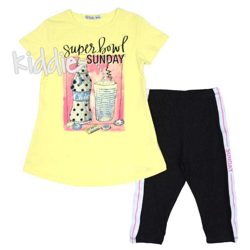 Детски комплект Super Sunday, Smile Yes за момиче