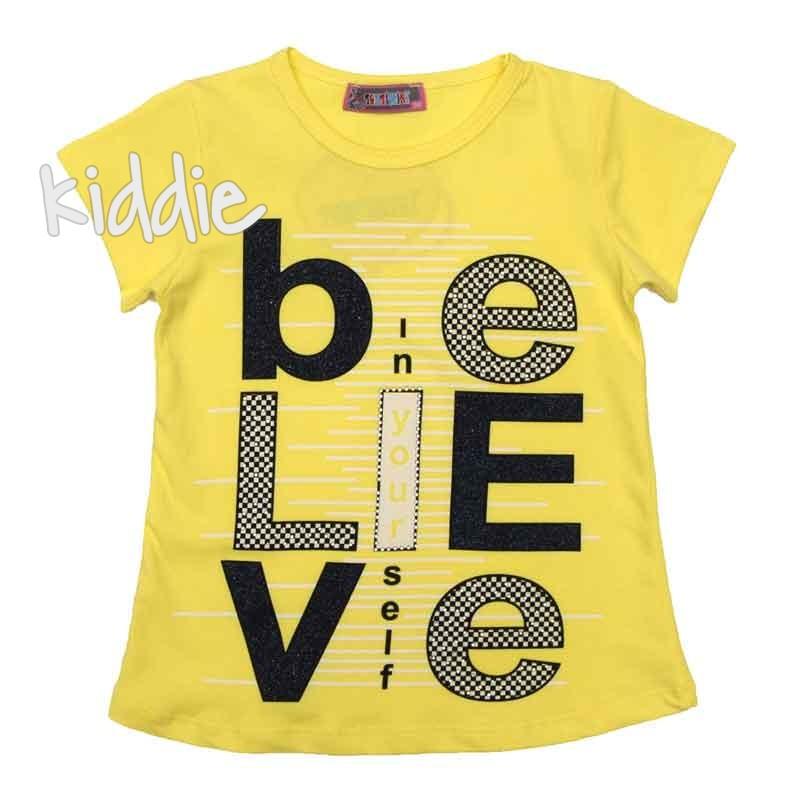 Детска тениска Believe, Tontimini за момиче