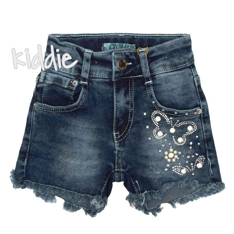Детски къси дънкови панталони Cichlid за момиче