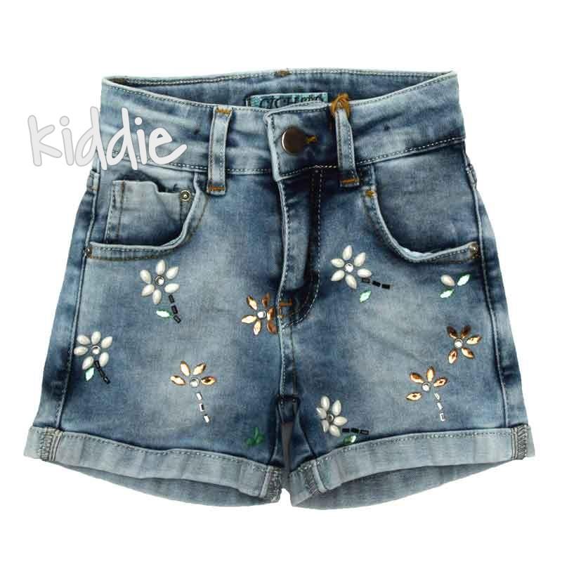 Детски къси панталони Cichlid за момиче с цветя