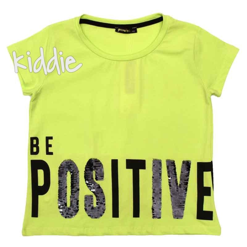 Къса блуза за момиче Be positive Yesmina