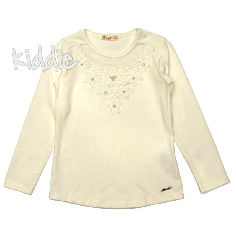 Детска блуза Barmy за момиче с дантела