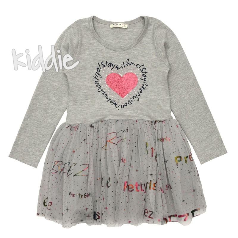 Детска рокля с дълъг ръкав Breeze