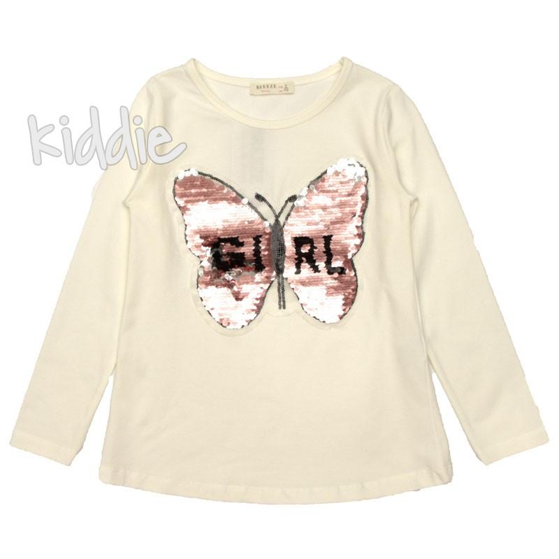 Детска блуза Пеперуда Breeze за момиче