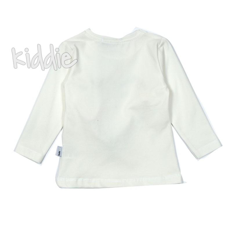 Детска блуза за момиче с топчета