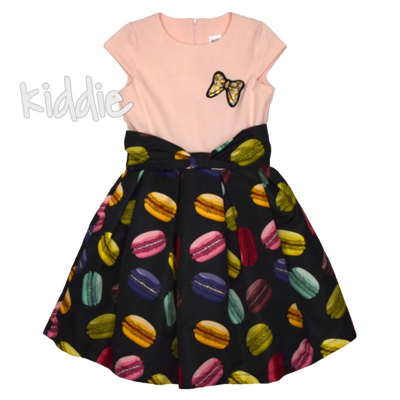 Детска рокля Kim kids с цветен принт