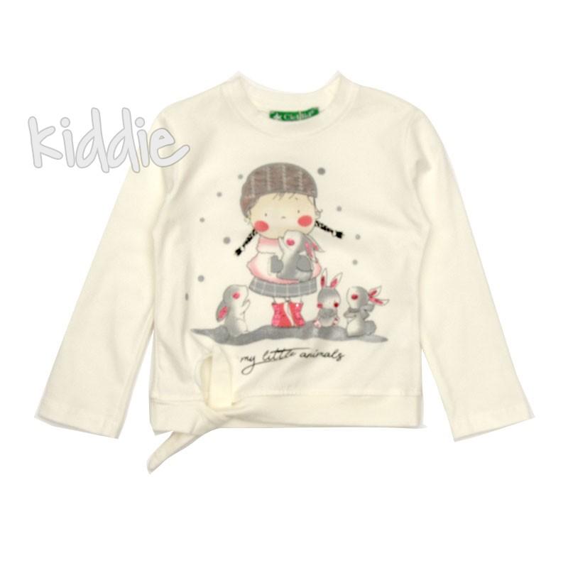 Детска блуза Cichlid със зайчета за момиче