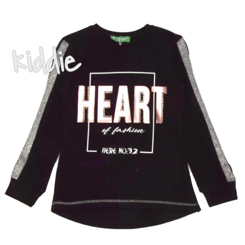 Детска блуза Heart, Cichlid за момиче