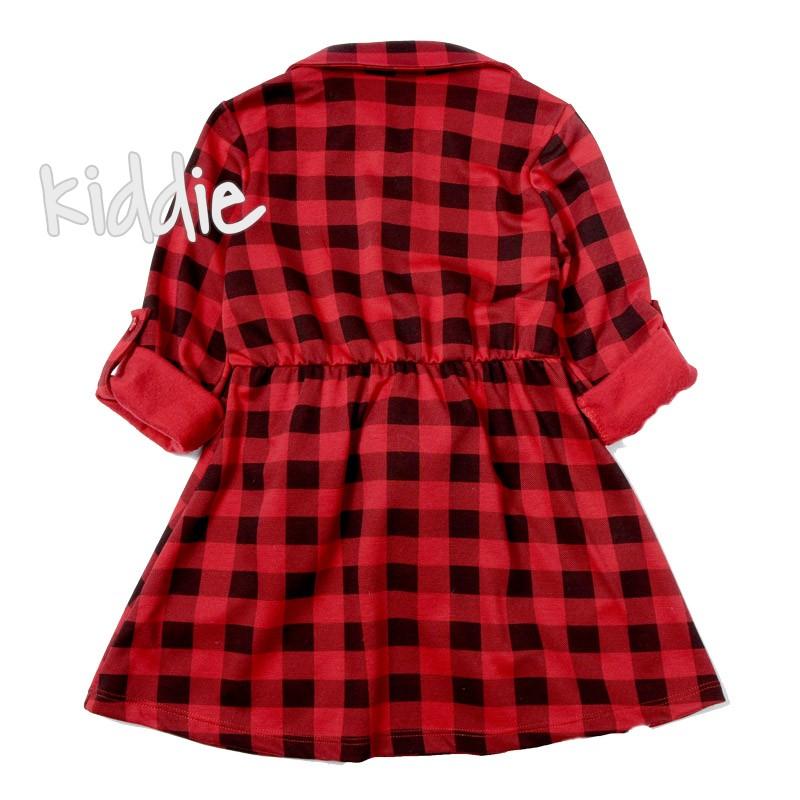 Детска карирана рокля Oute Kids
